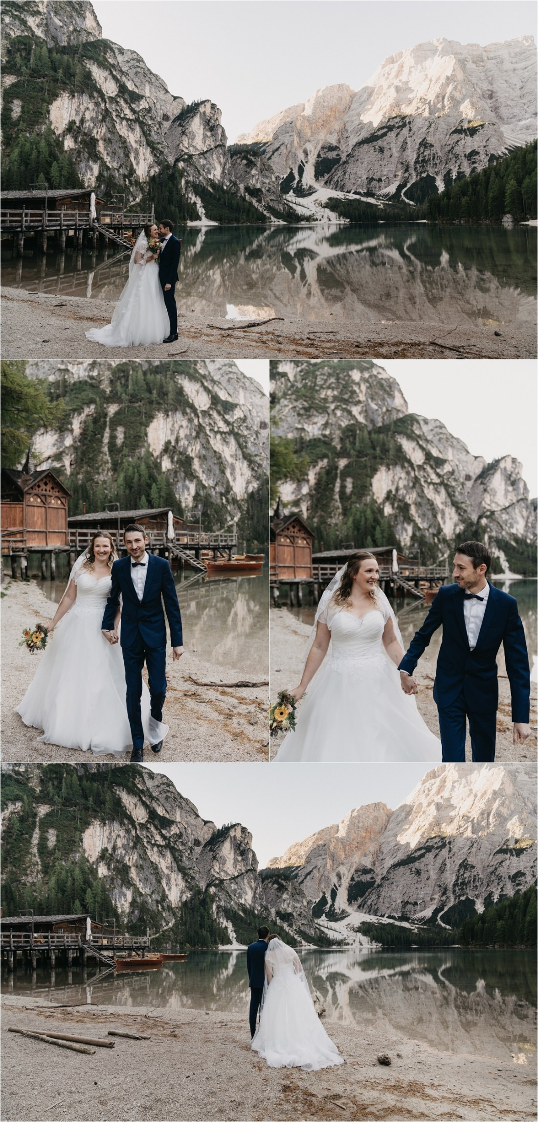 An After-wedding shoot at Pragser Wildsee in Italy by Romany Flower