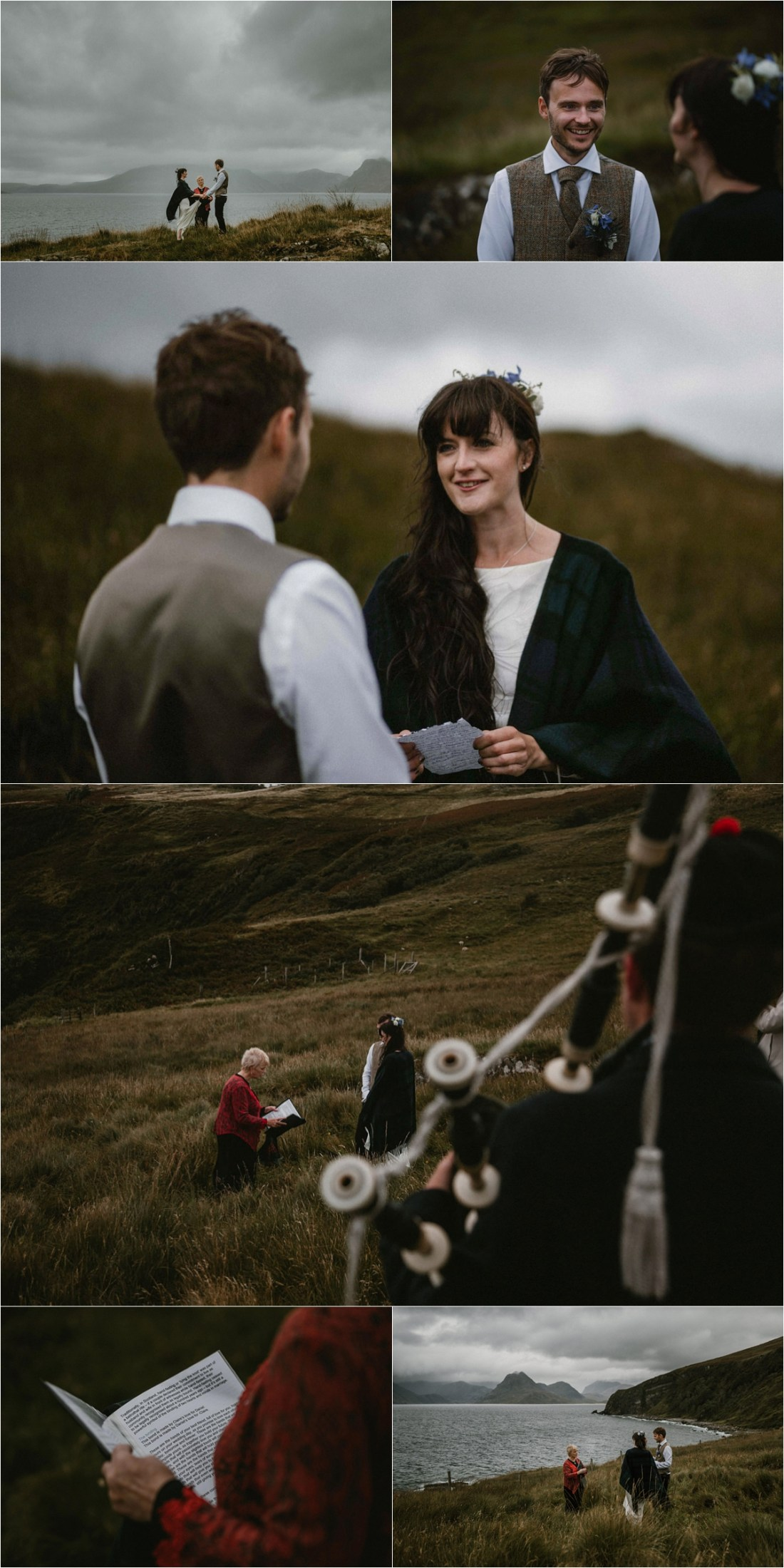 A humanist ceremony on the Isle of Skye. Photo by The Caryls Photography