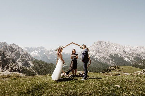 Elopement Ceremony at Tre Cime in the Italian Dolomites by Wild Connections Photography