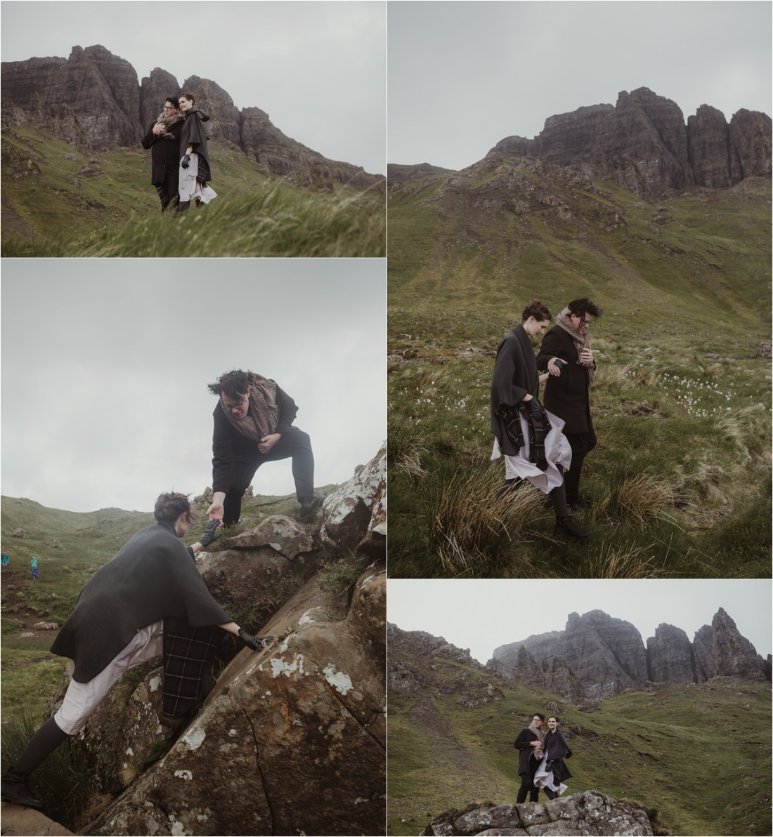 A Quiraing Elopement On The Isle of Skye photographed by Maureen du Preez