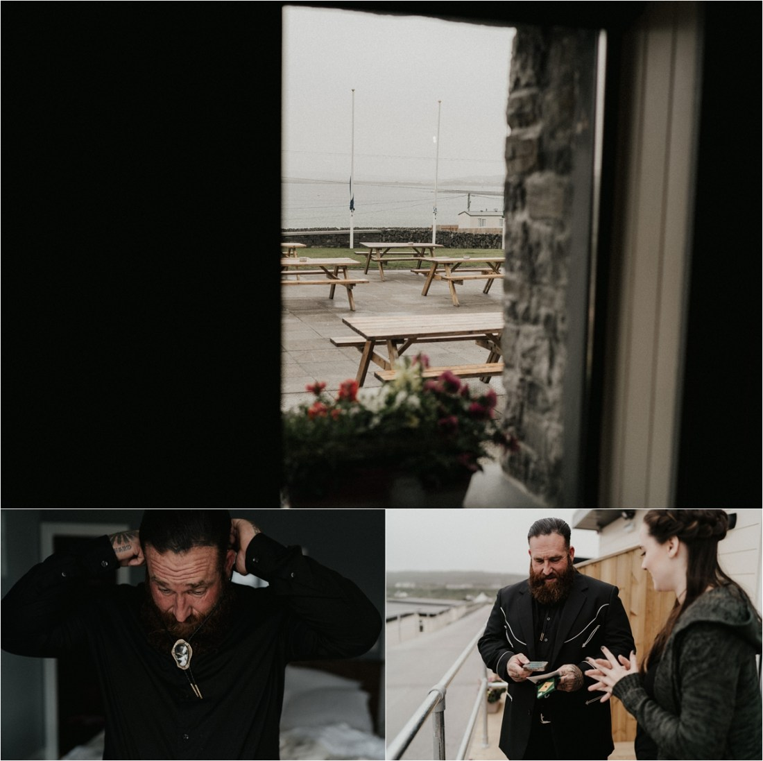 This biker groom gets ready for his Irish elopement by Emily Black Photography