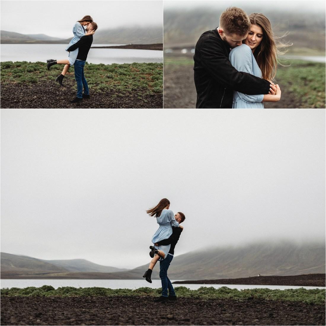 Cute Iceland couple shoot by Bettina Vass