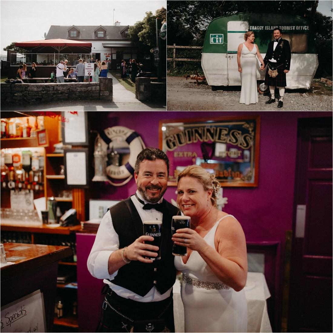 Aran Islands wedding reception. Photos by Sean & Kate