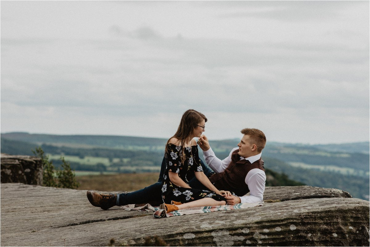 Engagement shoot in the Peak District by OWO Photography