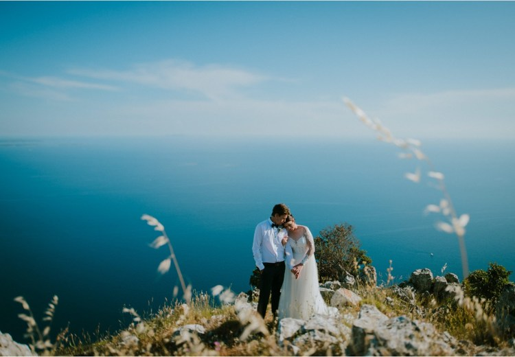 A mountain elopement in Hvar Croatia