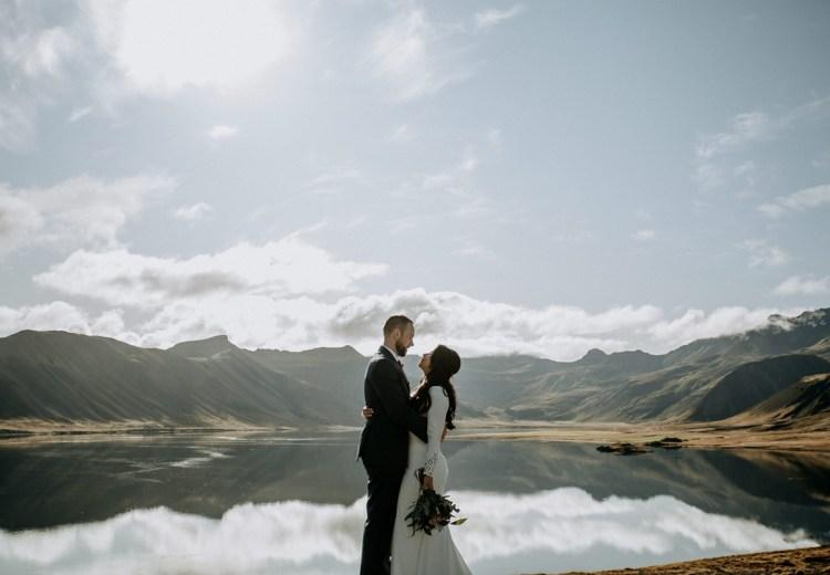 Kirkjufell Iceland Elopement