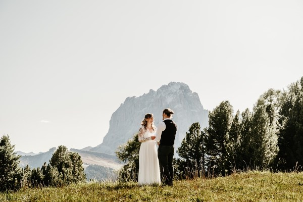 An elopement ceremony in Val Gardena in the Dolomites by Wild Connections Photography