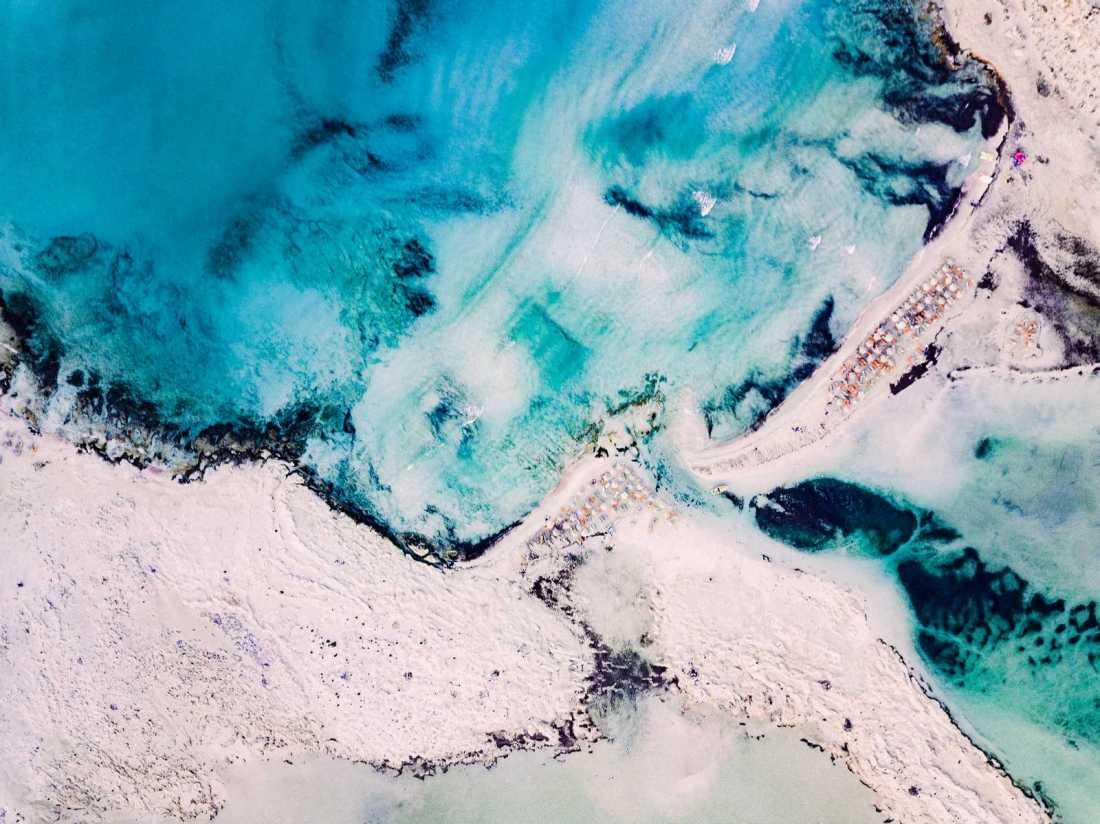 Balos Lagoon Crete aerial view