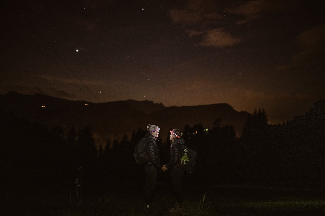 Night Hiking in the Italian Dolomites