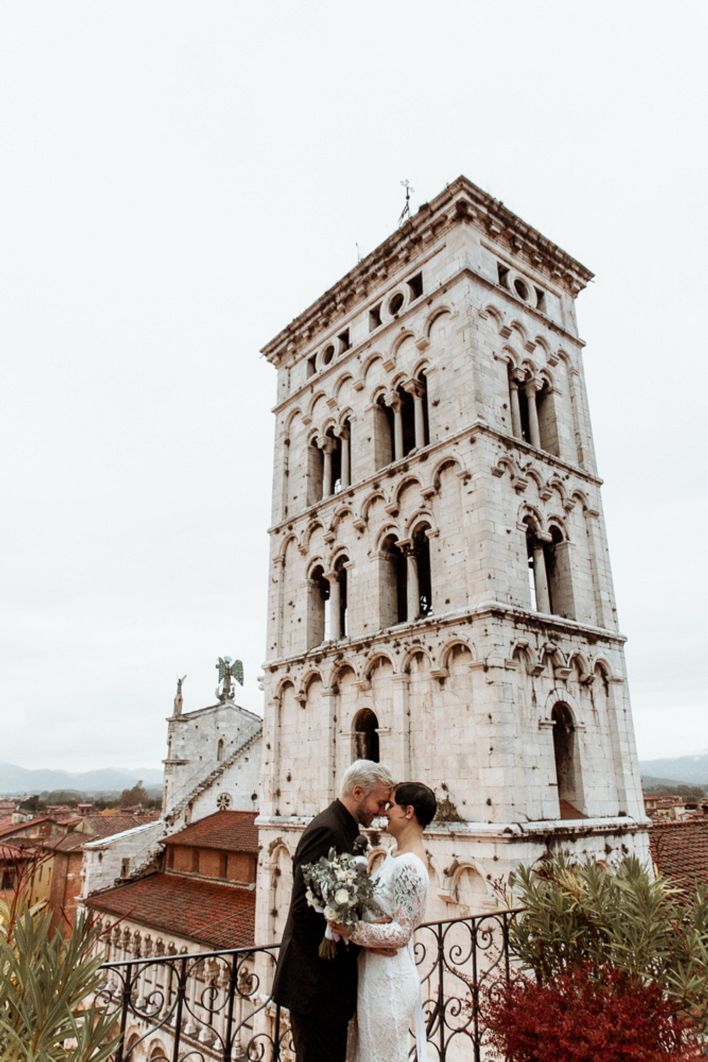 Halloween Elopement in Italy at Piazza di San Michele