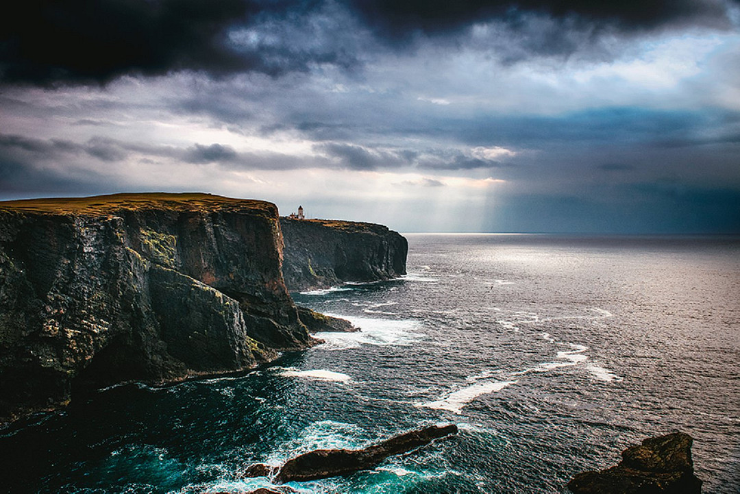 Coastline of Shetland Islands