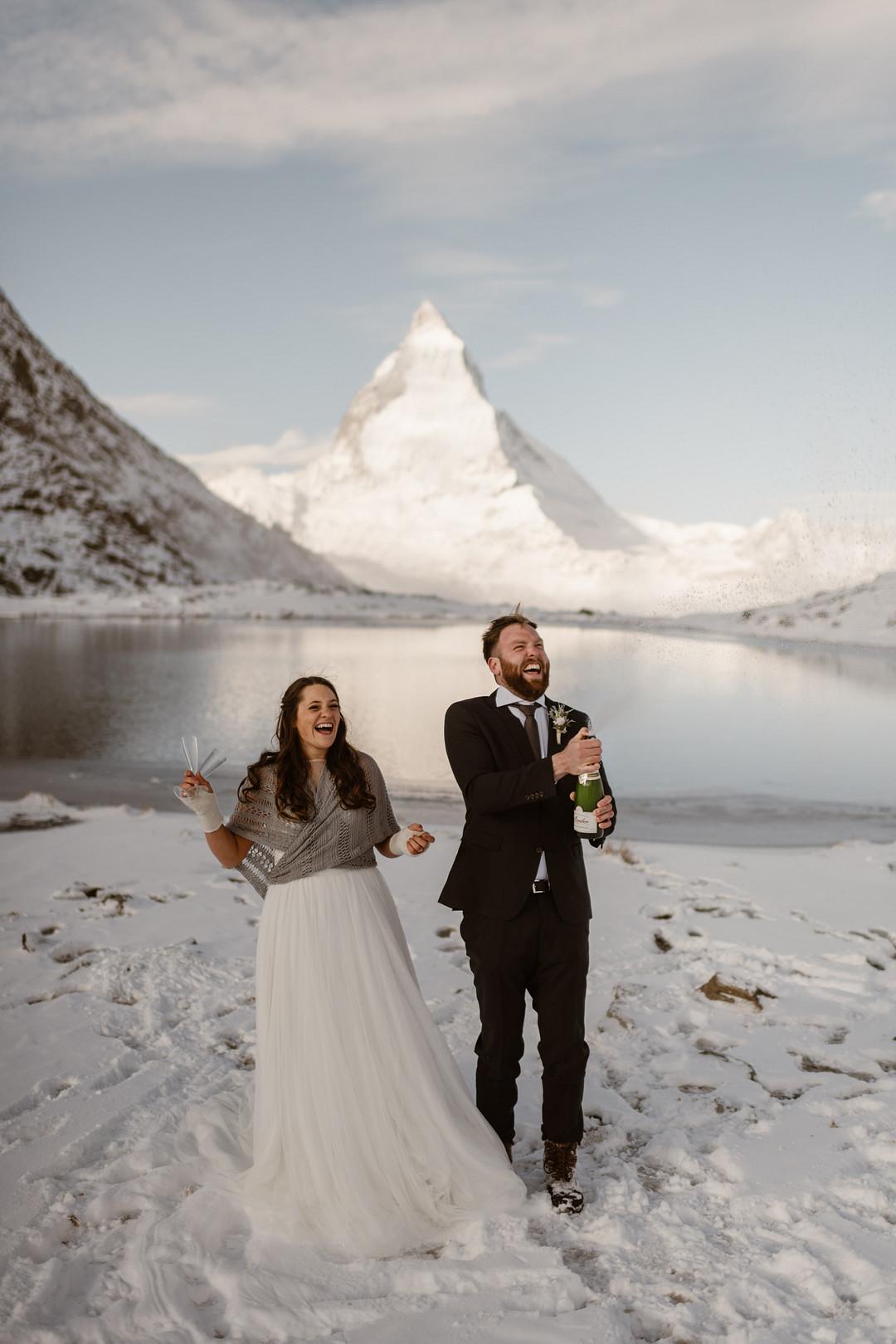 Adventurous Elopement at the Matterhorn