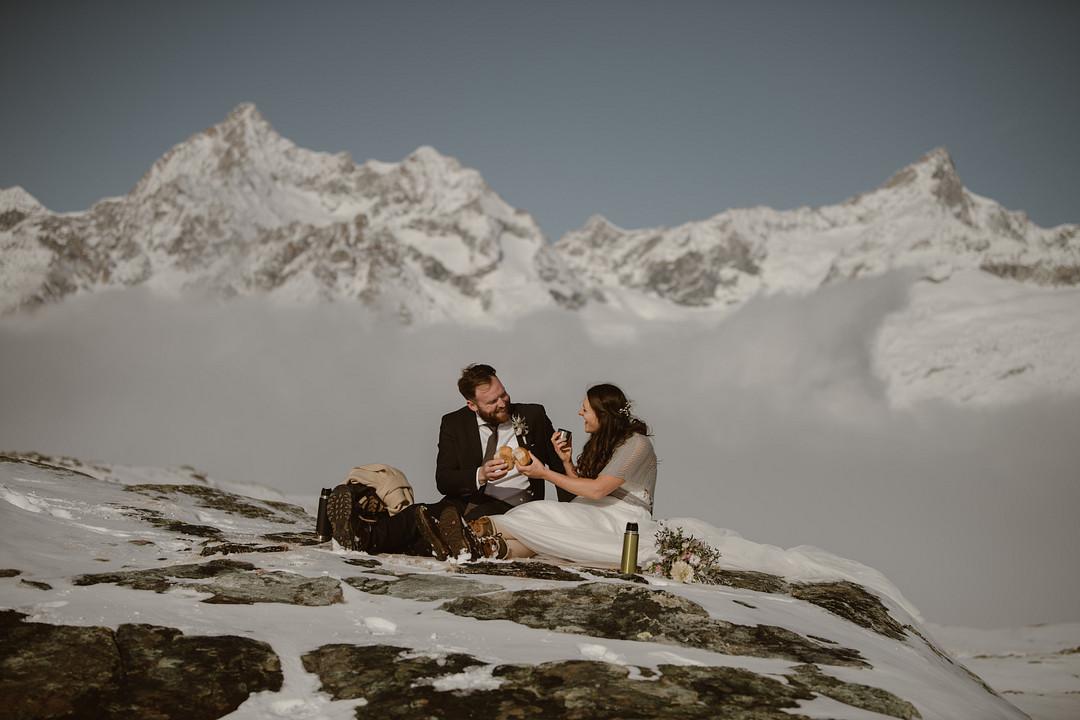 Elopement picnic in Zermatt