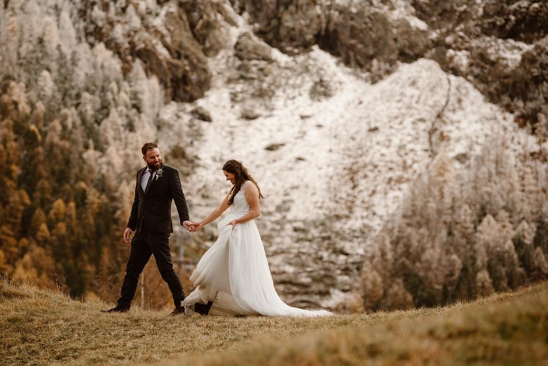 Autumn elopement in Zermatt
