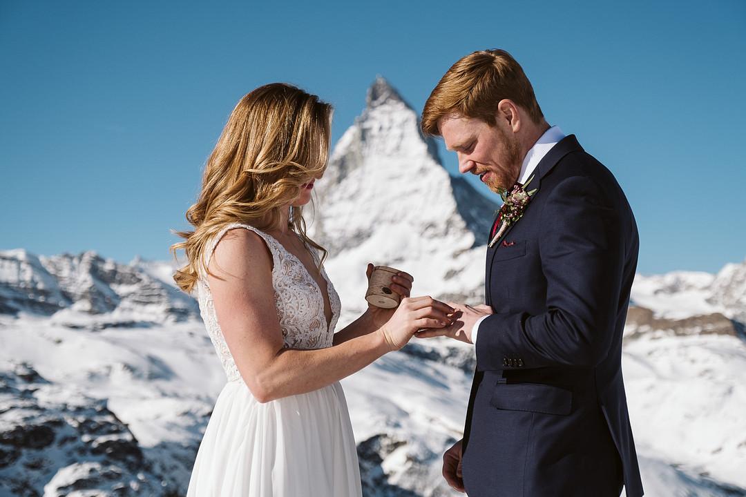 Elopement ceremony at Matterhorn