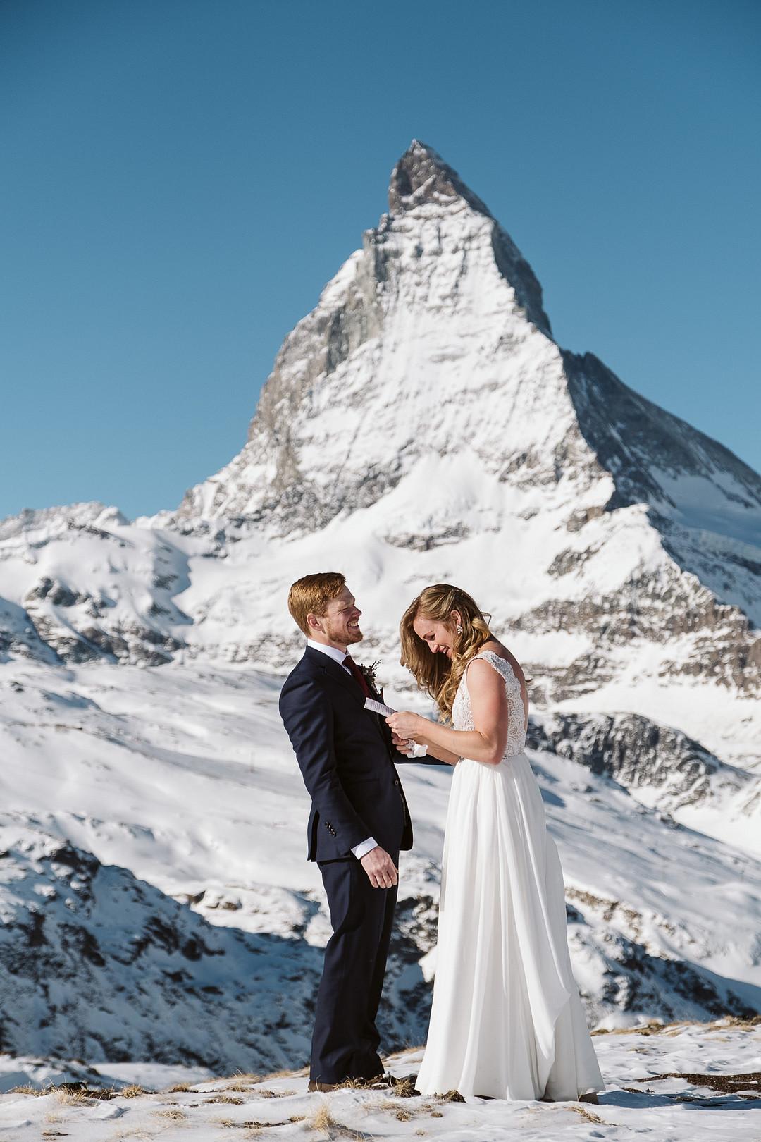 Winter elopement at the Matterhorn