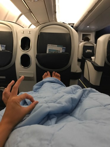 Air seychelles languit liggen Business Class
