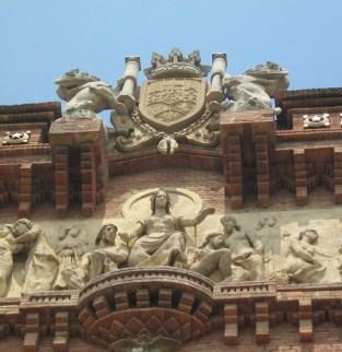 Arc de triomph barcelona detail
