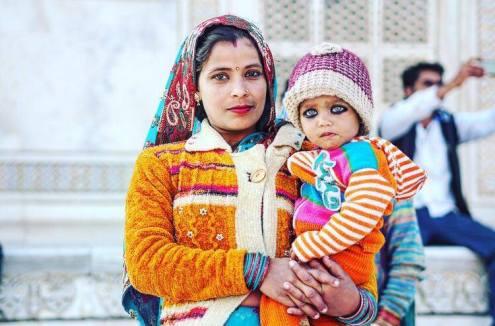 Backpacken in India hoofddoek