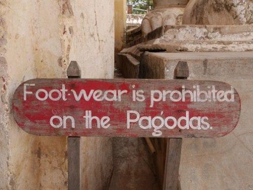 Bagan tempels regels