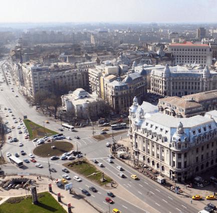 Boekarest vanaf boven roemenie