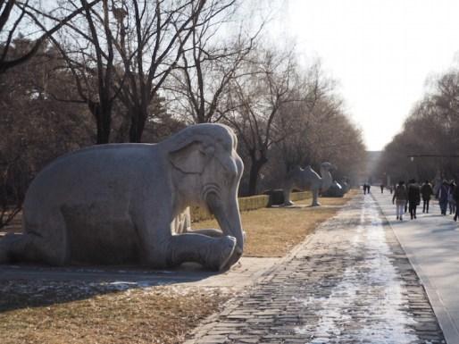 China heilige weg beijing olifant