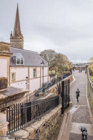 Derry centrum weggetje