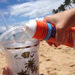 Drinken zonnebrand creme