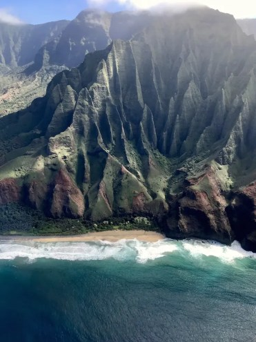Helicoptervlucht boven hawaii