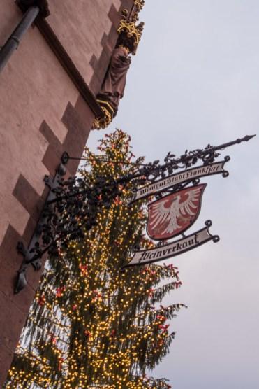 Kerstmarkt in Frankfurt lichtjes