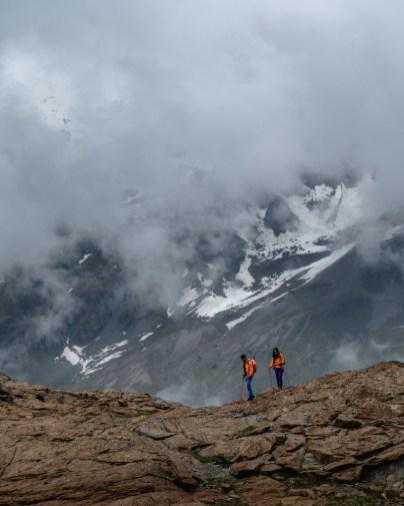 Klimmers in de zwitserse alpen