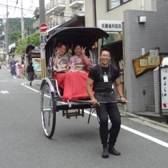 Kyoto rennende taxi japan
