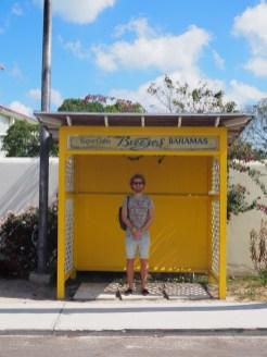 Bus stop Jitney Bus Bahamas Nassau
