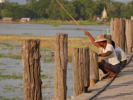 Mandalay Myanmar UBein brug