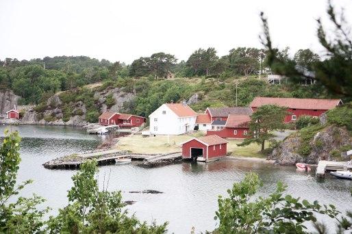 Natuurgebied vlak bij Grimstad noorwegen zuiden