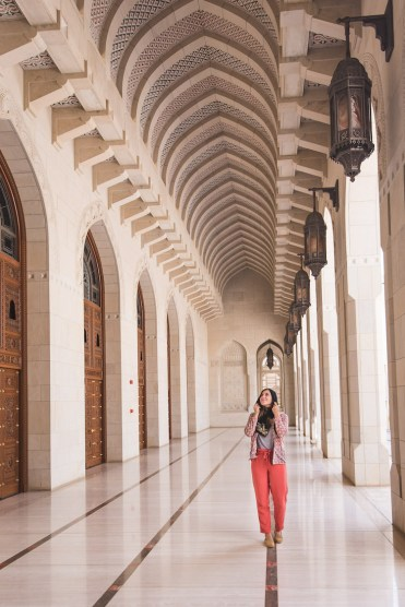Oman Muscat moskee gang