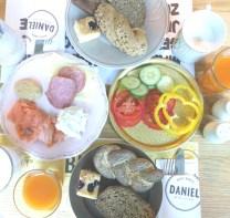 Ontbijten bij hotel daniel