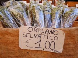 Gedroogde oregano markt siracusa
