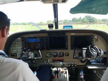 Piloot air juan vlucht backpacken filipijnen
