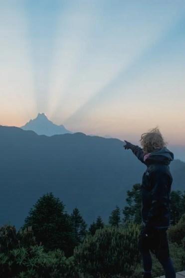 Poon hill trekking nepal top licht