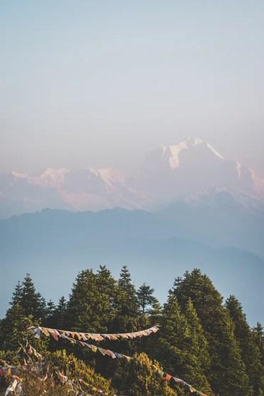 Poon hill trekking nepal top vlaggetjes