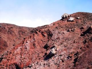 Rode etna vulkaan beklimmen