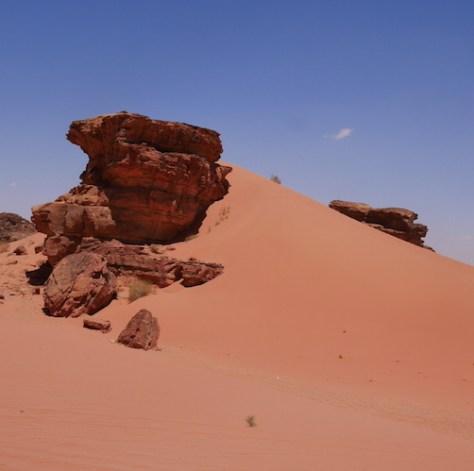 Rode woestijn wadi rum