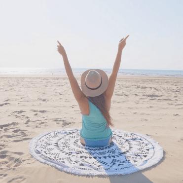 Ronde handdoek strand