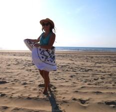 Ronde handdoek van Hipps.nl strand