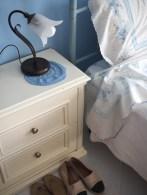 Slaapkamer detail blauwe kamer sicilie