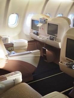 Stoelen business class Turkish Airlines