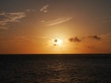 Sunset boat trip bij curacao kust