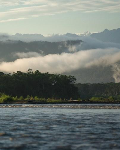 Uitzcht bergen Manu Jungle