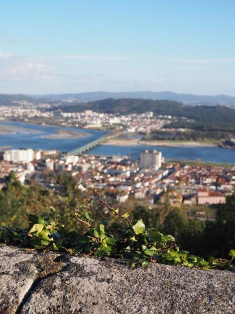 Uitzicht Basilica de Santa Luzia noord portugal